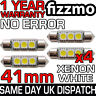 4x 3 SMD LED 41mm 264 CANBUS ERROR XENON WHITE NUMBER PLATE LIGHT FESTOON BULB