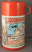 Vintage Sesame Street Lemonade Stand & Cookies Henson Wide Mouth Aladdin Thermos