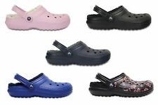 Crocs Adults Unisex Classic Lined Faux Fur Slip On Slipper Clogs Various Colours
