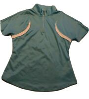 GREG NORMAN Women's Play Dry Golf Shirt Short Sleeves SIZE S/P Turquoise Blue