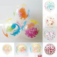 10pcs/set 12inch Thicken Mixed Color Printing Transparent Dinosaur Latex Ballon