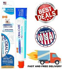 Toothpaste For Dog Fresh Breath Pet Oral Care Reduce Plaque Flavor 2.5 oz