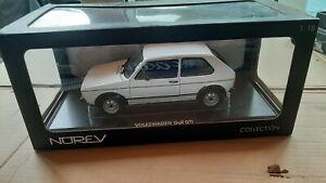 Norev VW Volkswagen Golf MK1 GTI 1976 White 1:18 188484 BBS OZ Recaro Diorama