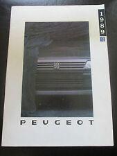 FOLLETO de la gama Peugeot 1989, incluye: 205 (+ GTI), 309 (+ GTI), 405 (+Mi-16), 505