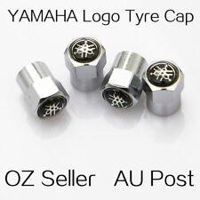 4X YAMAHA Logo Emblem Wheel Tyre Tire Cap Valve Stems Air Dust Cover Screw Caps