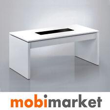 Mesa centro elevable blanca con cristal para sofá modelo Virginia
