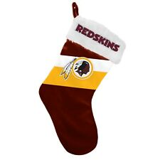 "Washington Redskins Christmas Stocking Holiday 17"" Team Colors Logo New ST19"