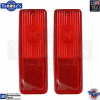 53 54 Ford taillight lenses tail lamp pair chrome sleeve Ford licensed