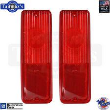 67-72 Chevy / GMC Suburban Brake Taillight Tail Light Lamp Lens USA - PAIR