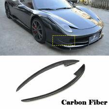 For Ferrari 458  Italia 2011-2013 Front Bumper Splitter Fins Carbon Fiber Refit