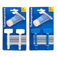 4er Set Tubenpresse Kunststoff | Tubenausdrücker Tubenentleerer Blau Weiß