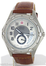 Wenger Swiss Military Men's Standard Brown Leather Strap Watch 79008