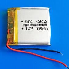 3.7v 320mAh Li Po Battery 403030 Cell for MP3 GPS Headphone Bluetooth Smart Band