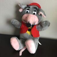 "Chuck E. Cheese 1988 Vintage Plush Pizza Place Show Biz 16"" Stuffed Animal Mouse"