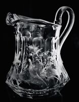 Moser Intaglio Signed Etched  very deeply Stunning and Rare Water Pitcher
