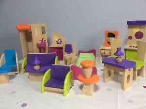 Kidkraft Dolls House Furniture, Large Wooden Furniture.