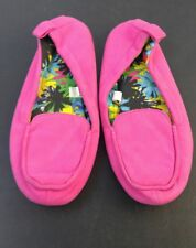 Dearfoams Slippers Womens Bright Pink Size Medium 7-8 US Womens