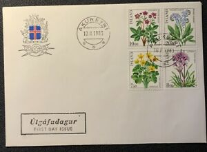 Iceland FDC 1983 Flower Issue VI