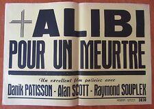 Old cinema poster alibi for a murder Danik patisson alan scott
