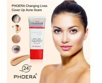 PHOERA Liquid Foundation Full Coverage Velvety Matte Flawless Lasting Makeup UK
