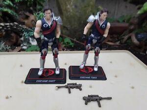 GI JOE 25th Cobra Crimson Twins Tomax & Xamot Action Figures.