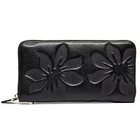 Women Lady Leather Clutch Wallet Long Card Holder Purse Organizer Zip Handbag