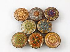 Set of 8 Oriental Mandala Earthtone Cabinet Drawer Knobs