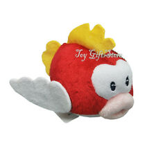 "Cheep Cheep Red Flying Fish 4"" New Super Mario Bros. Plush Doll Figure"