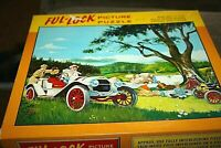 Vtg Car Jigsaw Puzzle Picnic Days Gone By 650 pcs Ful-Lock Thick  -BKK)