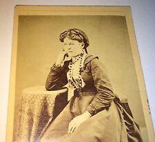 Antique Victorian American Young Woman Jewelry, Hair Net! Pennsylvania CDV Photo