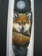 Moonlit Fox - Russ Abbott Hand Painted Feather- COMMISSIONED