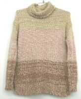 Lauren Conrad LC Women's Small Fuzzy Knitted Long Sleeve Pink Sweater Casual