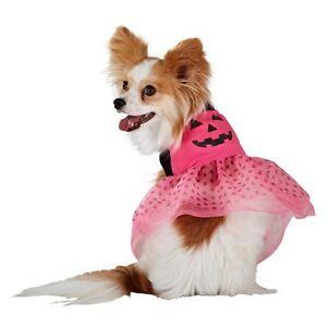 Top Paw Dog Pet Halloween Costume Pink Pumpkin LED Light Up Dress XS & Large