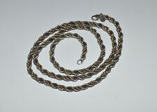 TIFFANY AND CO STERLING SILVER AND 18 K GOLD ROPE INTERTWINED CHAIN