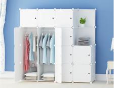 DIY 16 Cube Closet Wardrobe Modular Storage Organizer Clothes Kids Furniture UK
