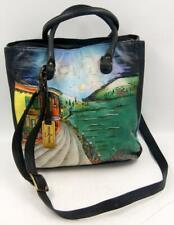 Anuschka Hand Painted Large Women's Shoulder/Messenger Bag Signed.