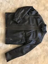 Cruzer Men's Contrast Stitch Cowhide Leather Jacket