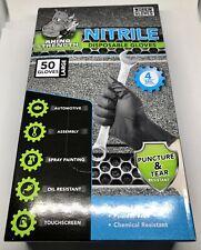Rhino Strength Black Nitrile Gloves 50ct.