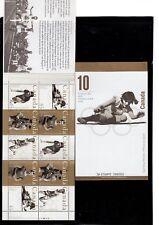 Canada 1996 Sporting Heros Booklet (Scott #1608-12Unitrade #BK192) VFMNH CV $15
