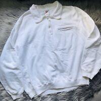 Vintage 80's Speedo Mens Sz L Jacket Windbreaker Sweatshirt Loud Bright White