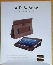 Snugg iPad 2 3 4 Destressed Brown PU leather case  A1395 A1397 A1396
