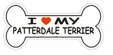 Love My Patterdale Terrier Bumper Sticker or Helmet Sticker D2501 Dog Bone Decal