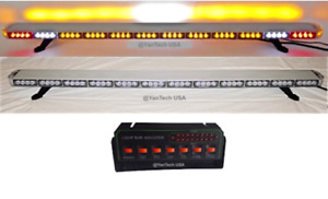 """60"""" Amber LED Light Bar Flat Bed Tow Truck Plow Roll Back w/ CARGO & TURN SIGNAL"""