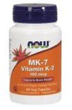 Now Foods MK-7, Vitamin K-2, 100mcg, 60 Veg Capsules, Supports Bone Health