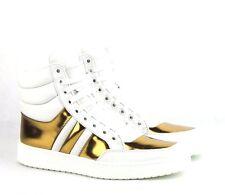 S-782188 New Gucci Mirosoft Glow Light White Gold Hi-top Shoe Size US 7 Marked 6