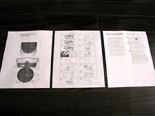 Technics SL-7 linear tracking turntable owners manual, English edition