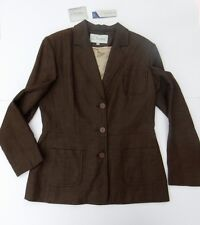 New Ladies J Taylor Debenhams Chocolate Brown Linen Fitted Jacket  Size 14  £85