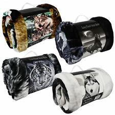 3D Animal Faux Fur Throws Super Soft Warm Cosy Sofa & Bed Blankets Laura Secret