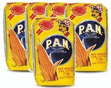 5x Harina PAN White Corn Meal Flour 5 x 1 Kg Venezuela