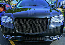 Fits 15-2020 Chrysler 300 Black Mesh Grill Bentley Grille Full Replacement Trim
